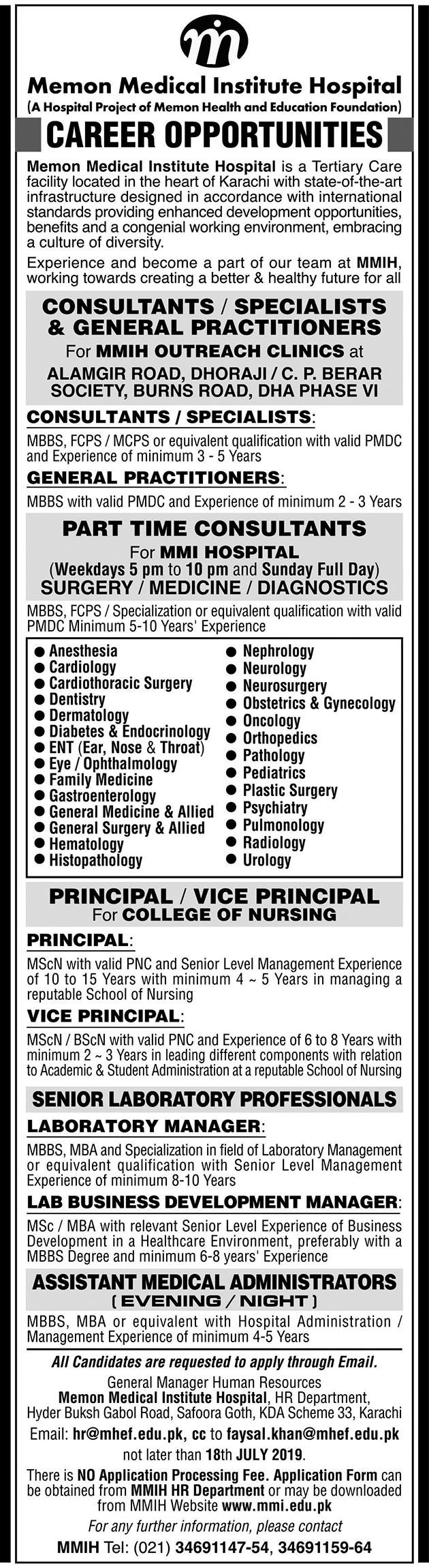 Pharmacist jobs in karachi 2019